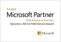 Microsoft Partnaer Finalist 2018 Partner of the Year Dynamics 365 for Field Service Award